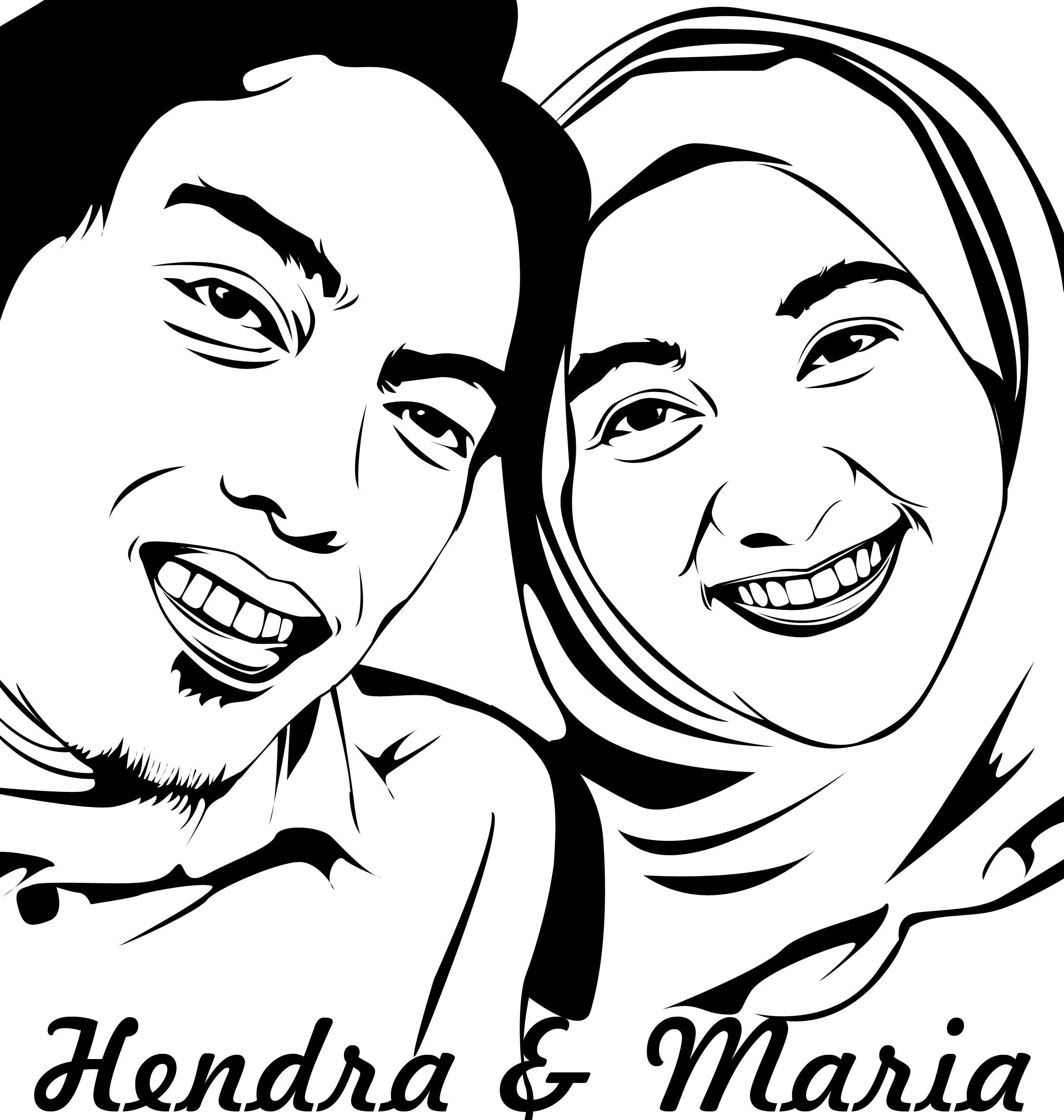 Line Art Wajah : Edit foto karikatur dengan photoshop tentang desain
